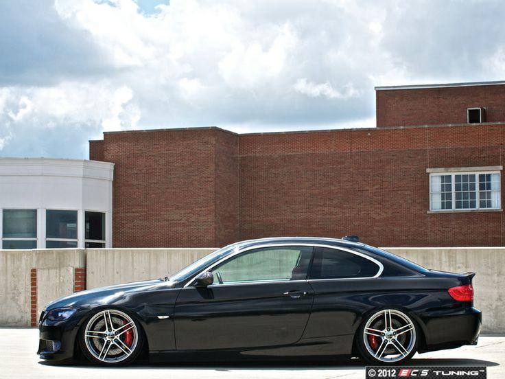 BMW E92 335i Modficifations: Alzor 730 wheels (Front 18x8.5 ET35 / Rear 18X9.5 ET35), Custom Air Ride Suspension #pancake #airout #lowlife #lowerit