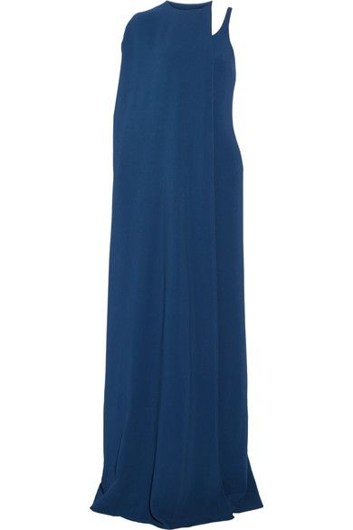 Stella McCartney - Mirabella Cape-effect Stretch-cady Gown - Cobalt blue - IT48