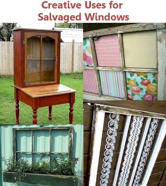 Creative uses for salvaged windows