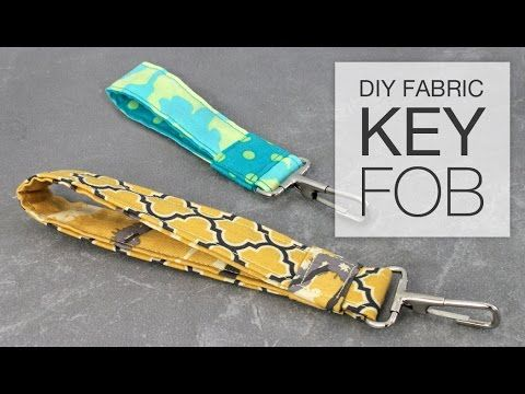 This tutorial shows you how to sew a simple fabric key fob (key chain) using two coordinating fabrics, interfacing, and a snap hook. These make great handmad...