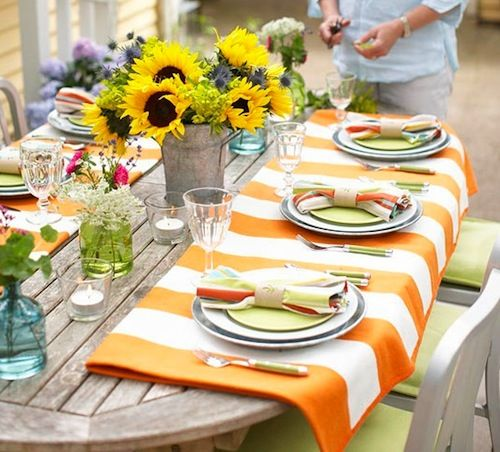 17 best images about table art on pinterest entertaining - Summer table setting ideas ...