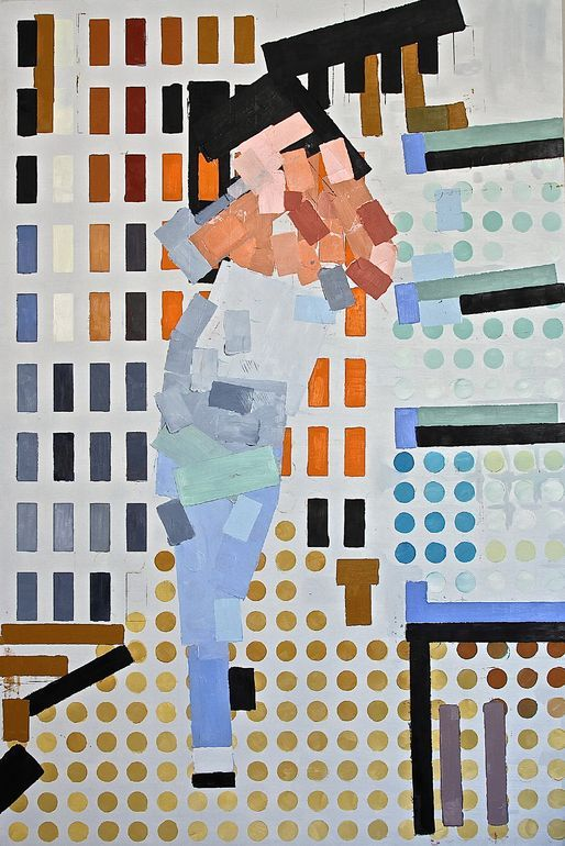 Abstract painting by artist Julien Porisse (France). Go inside his studio: http://magazine.saatchiart.com/articles/artnews/saatchi-art-news/inside-the-studio-saatchi-art-news/julien-porisse