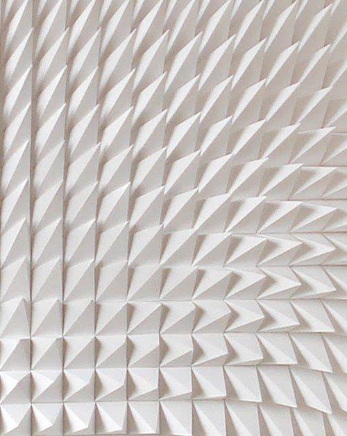 Recursive, white sculpture, detail _ by Matt Shlian _