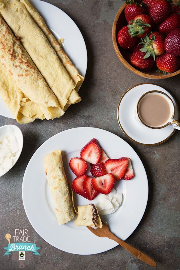 Coconut Crepes Recipe #glutenfree #dairyfree | FoodforMyFamily.com #FairMoms