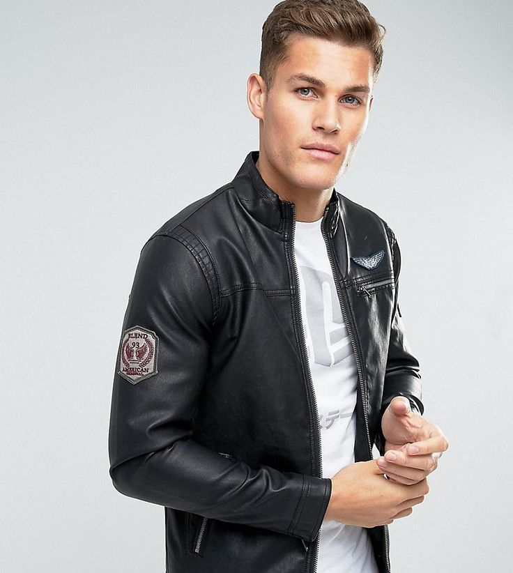 Get this Blend's leather jacket now! Click for more details. Worldwide shipping. Blend Faux Leather Jacket Badge Detail - Black: Jacket by Blend, Faux-leather, Badge detail, Zip fastening, Functional pockets, Regular fit - true to size, Machine wash, 100% Polyurethane, Our model wears a size Medium and is 193cm/6'4 tall. It was the early 90s in Denmark when cool menswear brand Blend was born. Their laid-back style earned them a huge following of fashion conscious men in both their hometown…