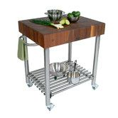 Found it at Wayfair - Cucina Americana Kitchen Cart with Butcher Block Top