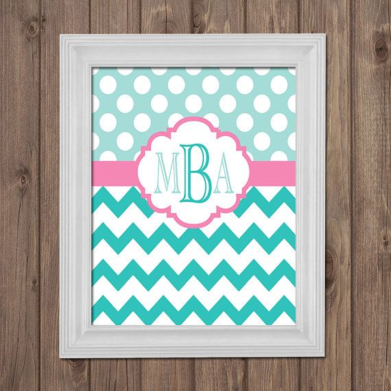 "Monogram ... Different letter for each of us in an individual frame with a ""&"" in the middle, slightly larger"