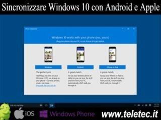 Come Sincronizzare uno Smartphone con Windows 10