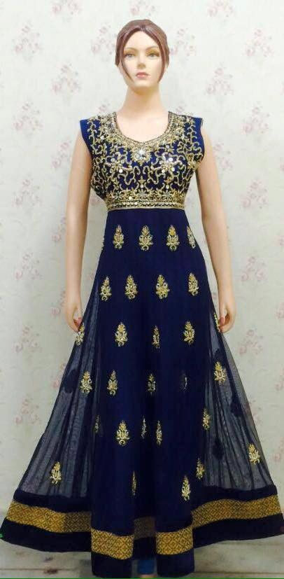Copy of White Anarkali With Georgette and Net