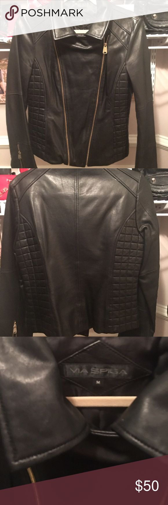 Womens black leather jacket size 18 – Your jacket photo blog