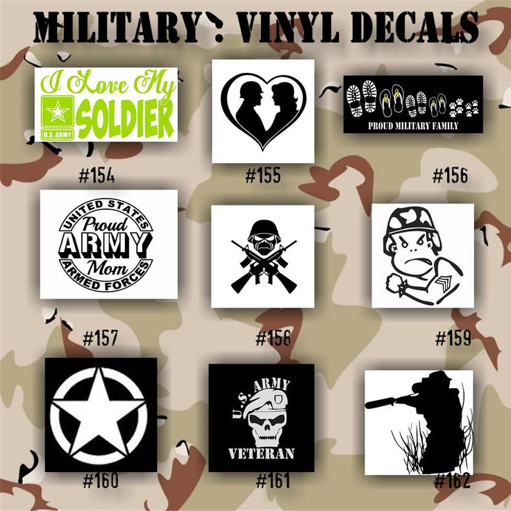 Military vinyl decals pages 18 19 army air force navy