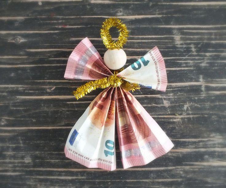 Engel aus Geld zu Weihnachten basteln