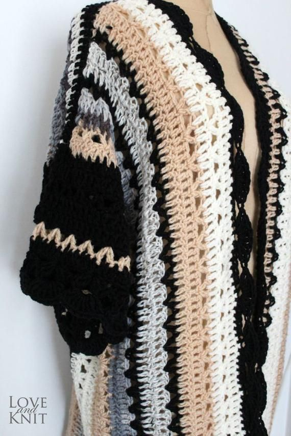 Boho Cardigan Hand Crochet Womens Cardigan Plus Size Sweater Long Cardigan Plus Size Cardigan Oversized Clothing Plus Size Holiday Kaftan 3
