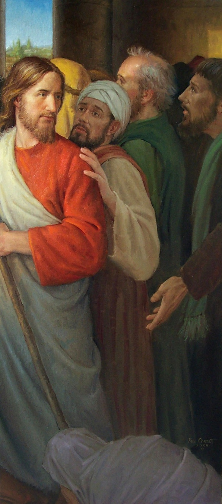"""""""Who touched me?"""" (see Luke 8:43-48; http://lds.org/scriptures/nt/luke/8.43-48#42) One of many inspiring examples in the scriptures of one having great faith in the Lord. May each of us too develop such faith in the Savior. http://facebook.com/173301249409767"""