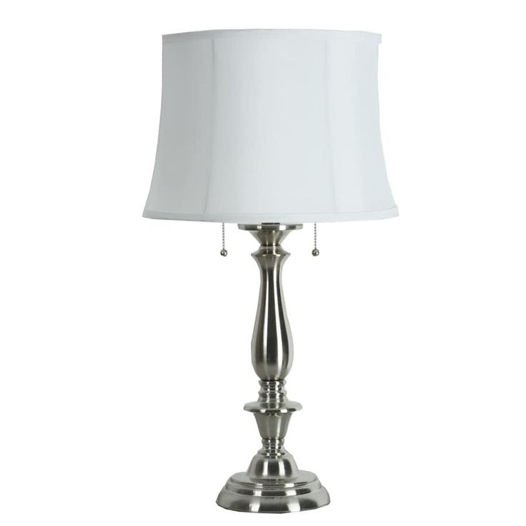 Pin By Carrie Washington On Beleuchtung In 2021 Nickel Table Lamps Fabric Shades Lamp