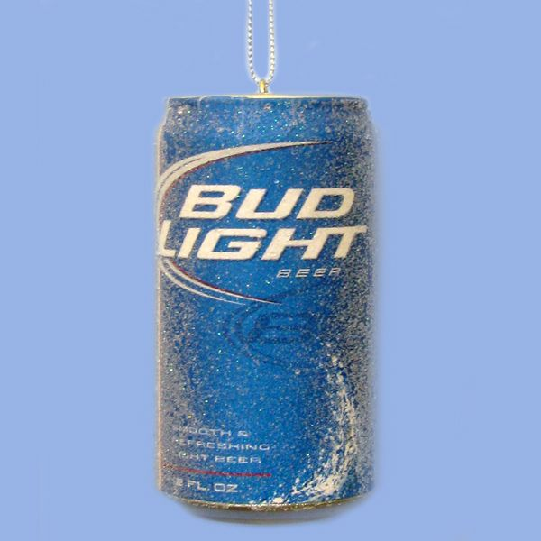 Country Marketplace - Bud Light Beer Can Ornament, $8.99 (http://www.countrymarketplaces.com/bud-light-beer-can-ornament/)