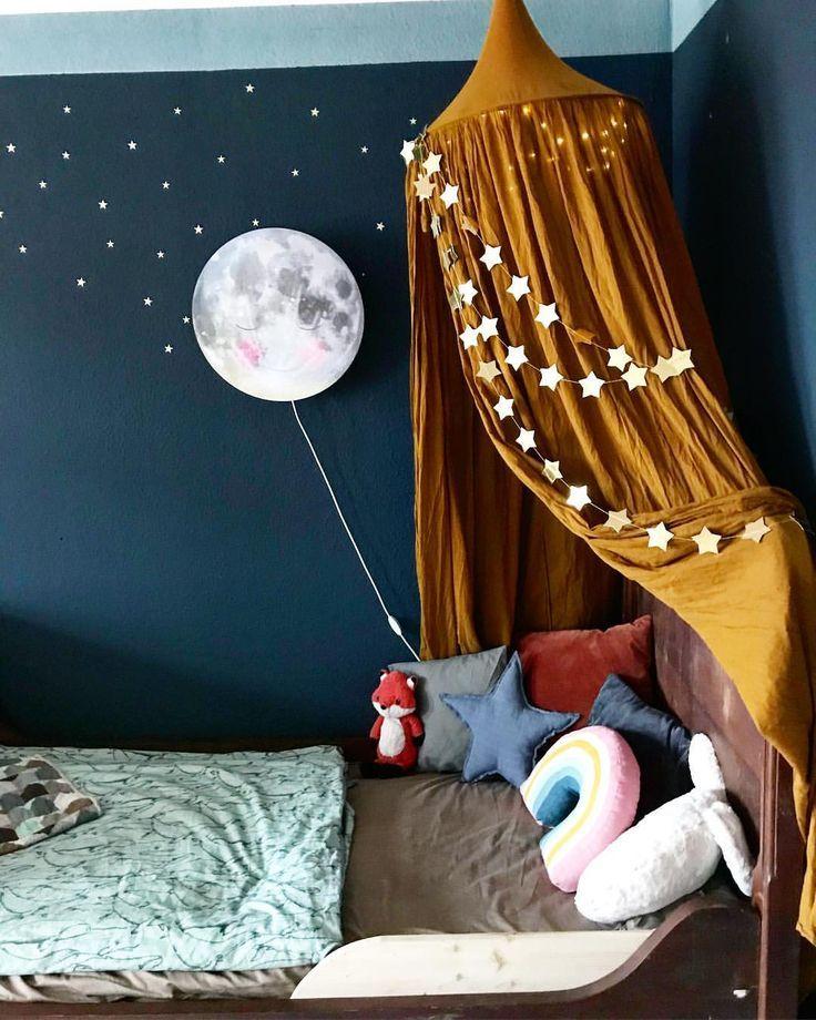 Auvent, auvent, lit bébé, clair de lune, # chambre d'enfant # bien # chambre d'enfant  – Wohnen | Kinderzimmer
