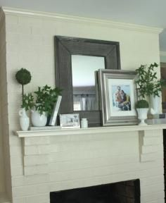 everyday mantel decorating - Google Search