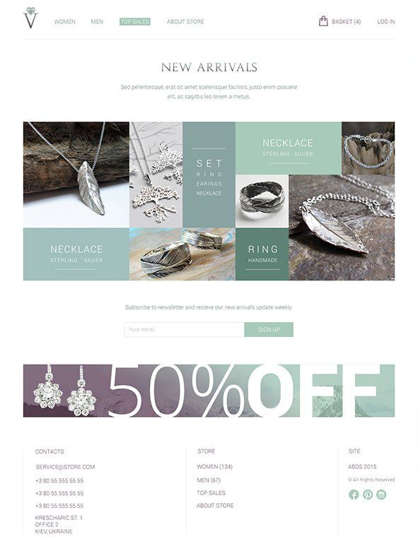 Olive and Purple Free E commerce Web Template PSD