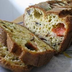 Another five-star review in for this savoury bake! Tomato, mushroom and rosemary savoury cake - perfect for packed lunches