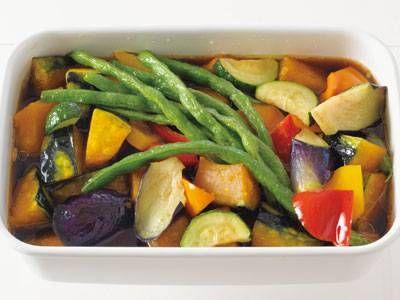 夏野菜の揚げびたしレシピ 講師は飛田 和緒さん|使える料理レシピ集 みんなのきょうの料理 NHKエデュケーショナル