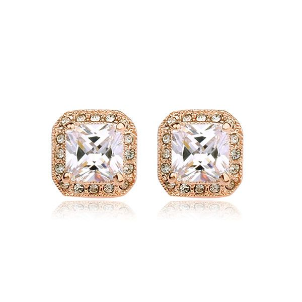 Earrings - Platinum or 18K Gold Plated, Crystal