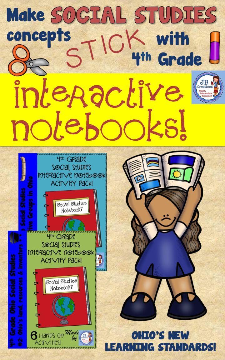 4th Grade Social Studies Interactive Notebook Ohio's