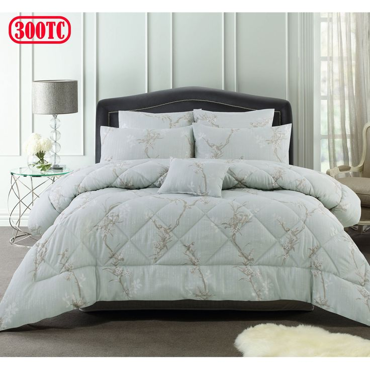 300TC 6 Pce June Jacquard Comforter Set by Accessorize