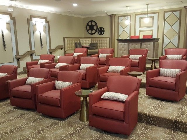 Movie Theater at Horizons at Steele Creek Apartments in Charlotte