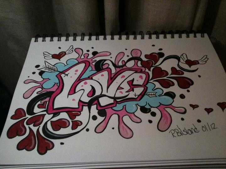 Love graffiti in my sketch book