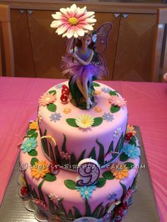 Garden Fairy Cake... This website is the Pinterest of birthday cake ideas