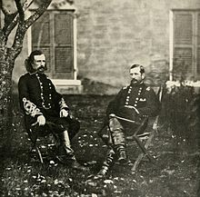 Union Cavalry Generals George A. Custer and Alfred Pleasonton in Autumn 1863