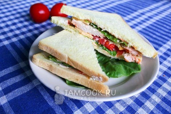 Рецепт сэндвича со свининой