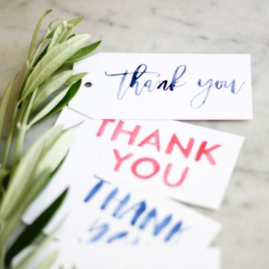free watercolor thank-you tags