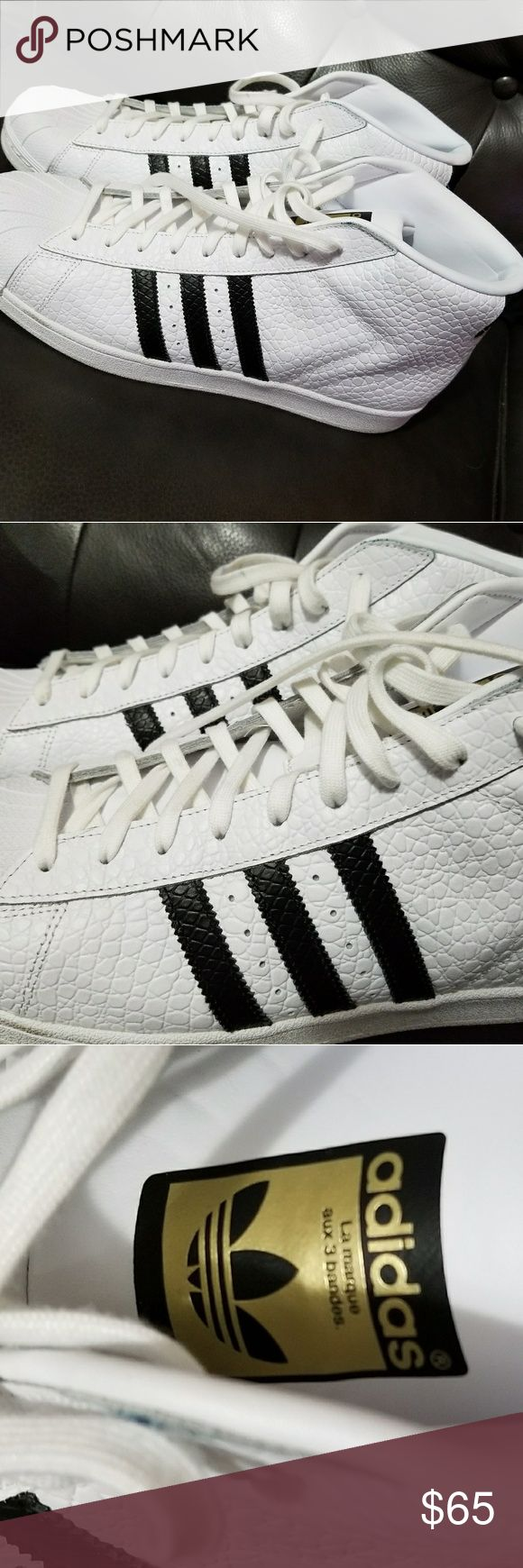 Authentic Adidas  supestar hight top shoes Only one wore once. adidas Shoes