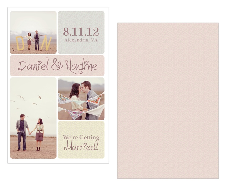 """""""Patchwork"""" Save the Date Photocard-good example of possible collage"""
