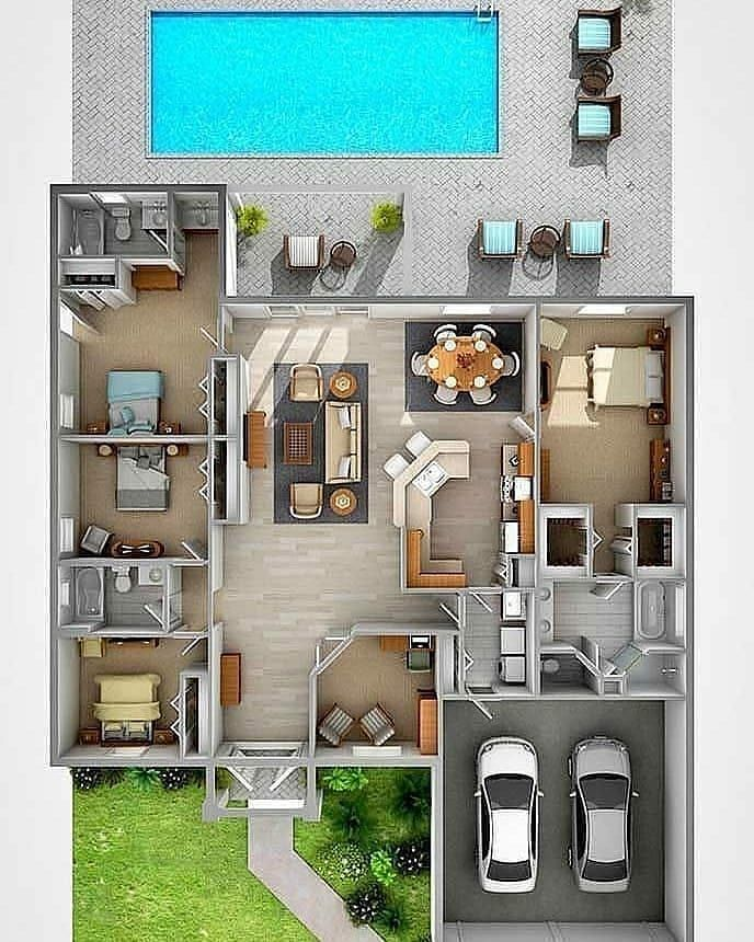 Pk Architect On Instagram Want To Design 2d 3d Floor Plan Contact Us Pk Architect Low Bud In 2020 Sims House Design House Projects Architecture Sims House Plans