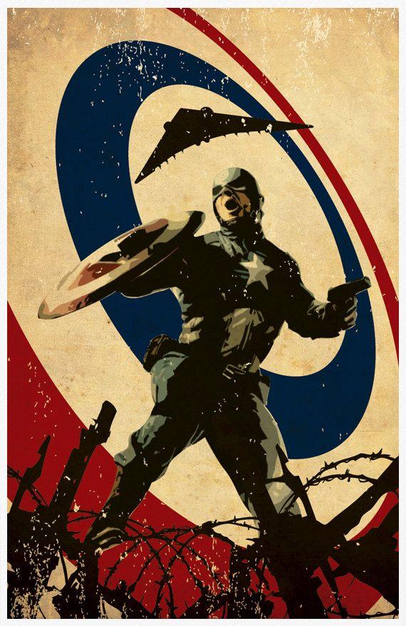 Superheroes Series - Batman Captain America Spiderman Superman and Ironman 11X17 Poster Set