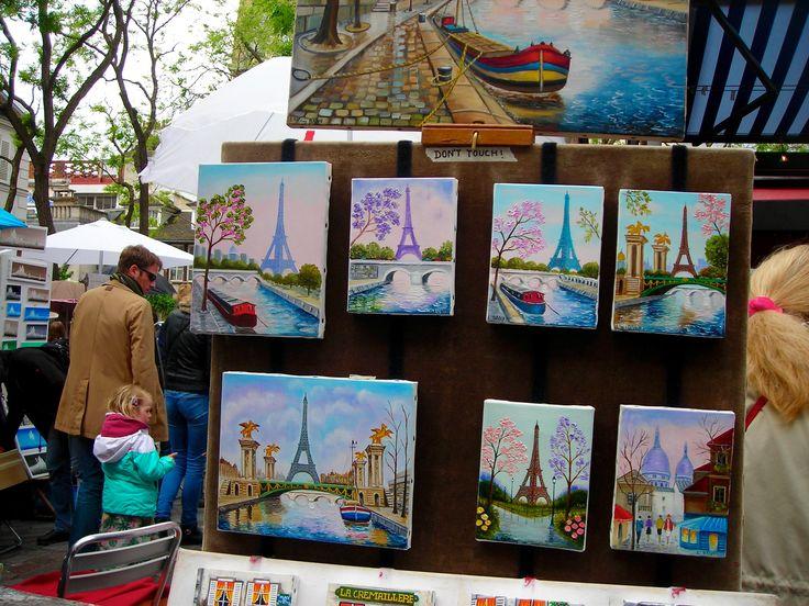 Mas artistas en Place du Tetre. París- Francia