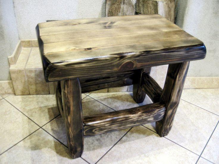 Stołek+rustykalny,+stolik+w+adamiego+na+DaWanda.com