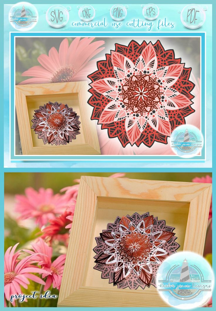 Download 3D Layered Design | Floral Mandala SVG file | Multi ...