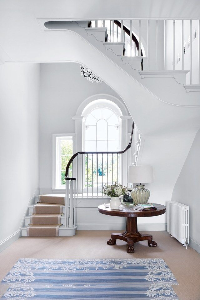 The previous staircase to the second floor was replaced with this gently winding design.