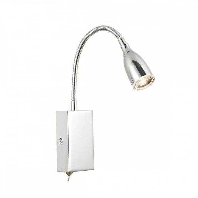 Modern Flexible Led Wall Light In Polished Chrome Home Lighting Wall Lights Polished Chrome