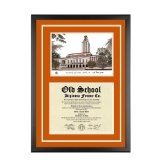University of Texas Austin Diploma Frame with UT Lithograph Art PrintBy Old School Diploma Frame Co.