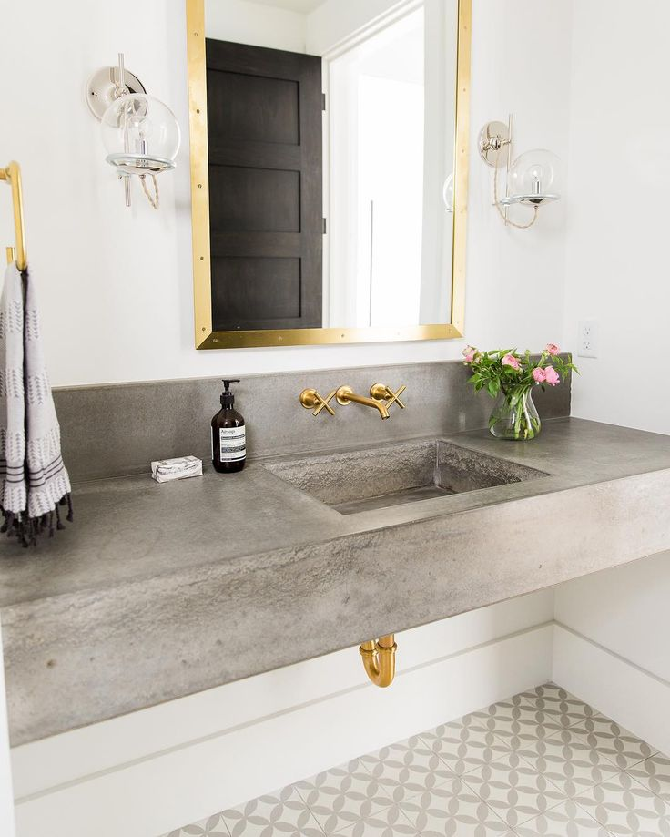 Mixed Metals In The Bathroom || See More At Www.studio Mcgee.