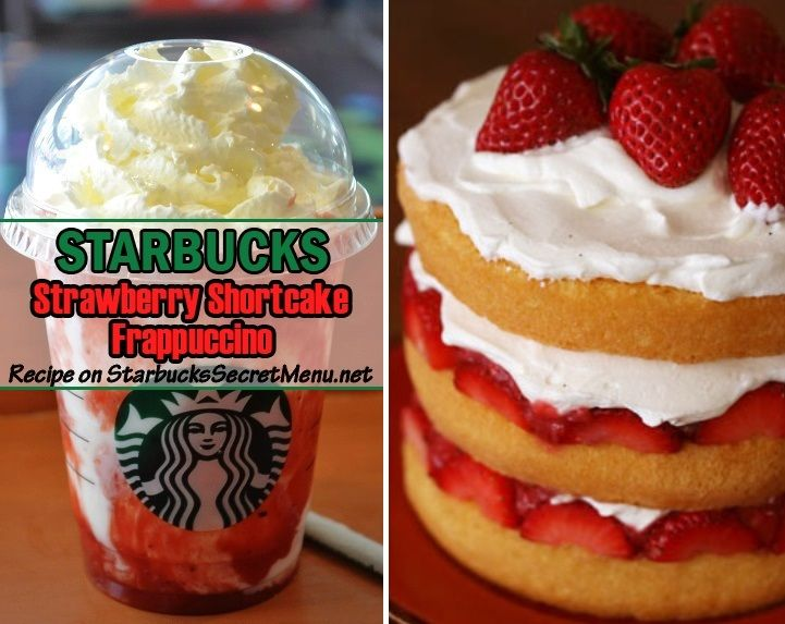 Starbucks Strawberry Shortcake Frappuccino! #StarbucksSecretMenu Recipe here: http://starbuckssecretmenu.net/strawberry-shortcake-frappuccino-starbucks-secret-menu/