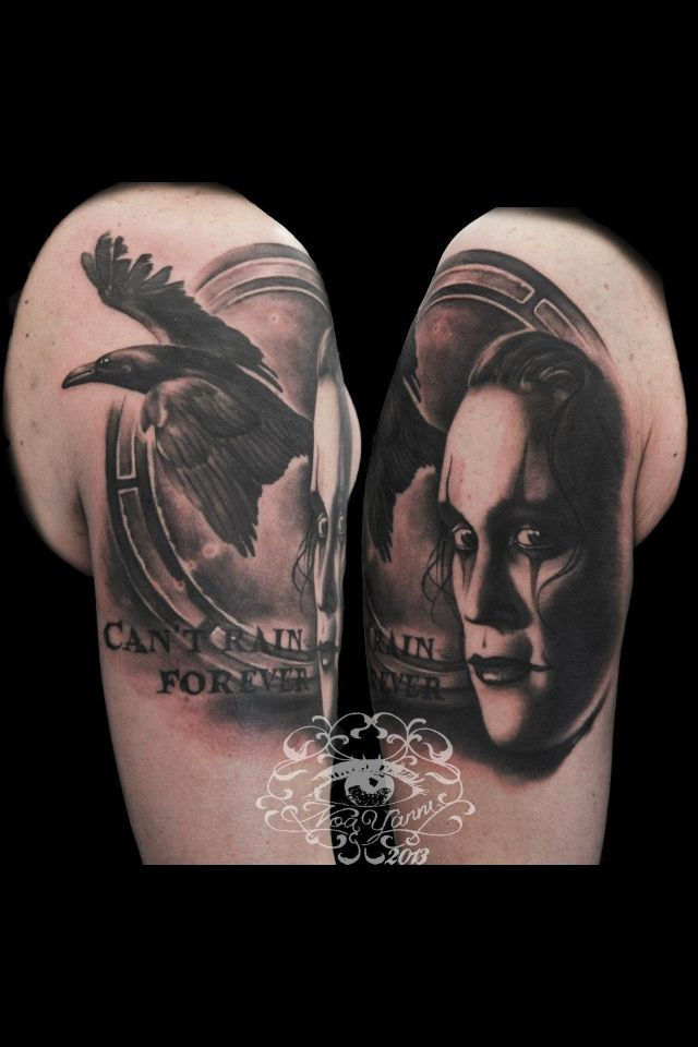 The Crow By Noa Yannì tattoo artist