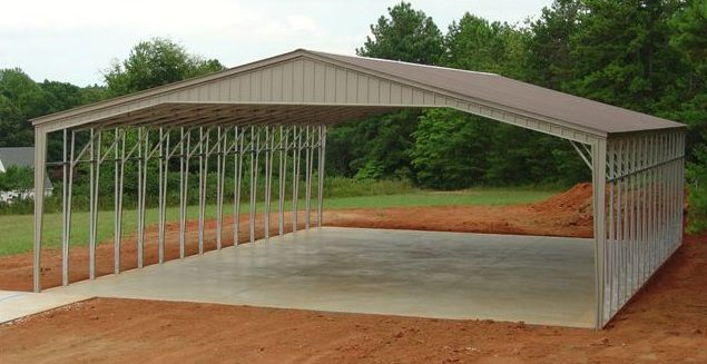 32 to 40 wide sturdy metal carports, garages & metal buildings