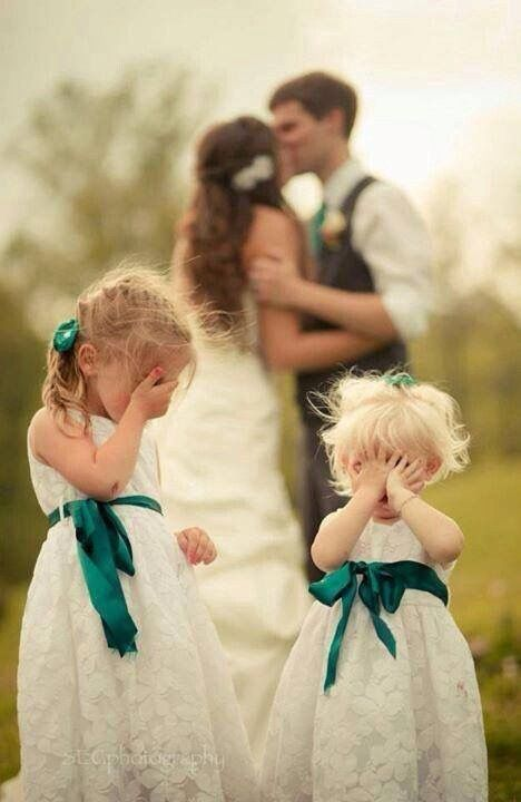 Cute girls white and green #weddings #flowergirls - www.myweddingconcierge.com.au