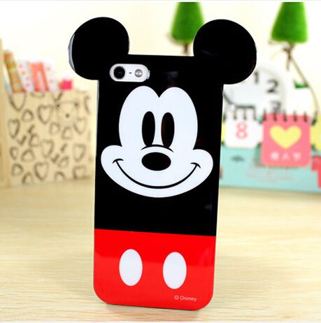 Fashion 3D Cute Soft TPU Cartoon Mouse Ears Back Case Cover For iPhone 4 4s 5 5s 6 6 plus - Top Sellers